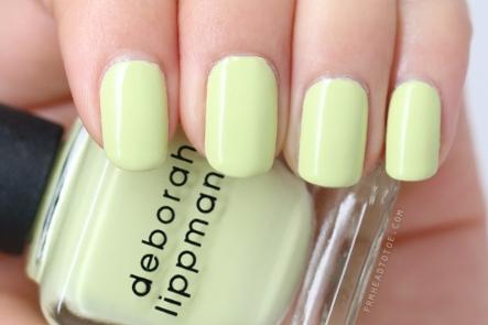 deborah lippmann spring buds nail polish mint green